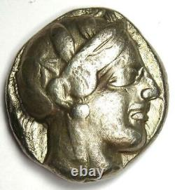 Athènes Grèce Athena Owl Tetradrachm Coin (430 Av. J.-c.) Bon Vf
