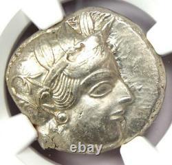 Athènes Grèce Athena Owl Tetradrachm Coin (440-404 Av. J.-c.) Ngc Choice Xf, Coupe D'essai