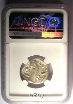 Athènes Grèce Athena Owl Tetradrachm Coin (440-404 Bc) Certifié Ngc Au