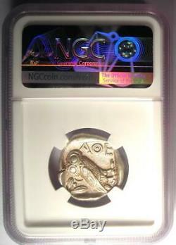 Athènes Grèce Athena Owl Tetradrachm Coin (440-404 Bc) Certifié Ngc Choix De L'ua