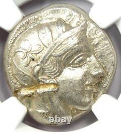Athènes Grèce Athena Owl Tetradrachm Coin 440-404 Bc Ngc Choice Au, Test Cut