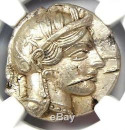 Athènes Grèce Athena Owl Tetradrachm Coin (440-404 Bc) Ngc Choix De L'ua, Les Coupes De Test