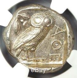 Athènes Grèce Athena Owl Tetradrachm Coin (440-404 Bc) Ngc Choix Ua, Cut Test