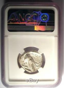 Athènes Grèce Athena Owl Tetradrachm Coin (440-404 Bc) Ngc Choix Vf, Cut Test