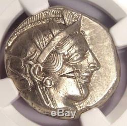 Athènes Grèce Athena Owl Tetradrachm Coin (440-404 Bc) Xf Choix Ngc, Cut Test