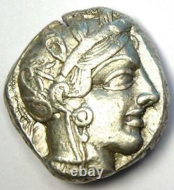Athènes Grèce Athena Owl Tetradrachm Coin (454-404 Av. J.-c.) Bonne Vf / Xf, Test Cut