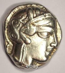 Athènes Grèce Athena Owl Tetradrachm Coin (454-404 Av. J.-c.) Nice Xf Condition