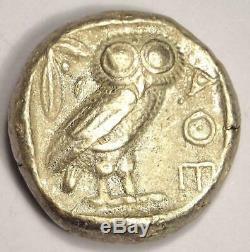 Athènes Grèce Athena Owl Tetradrachm Coin (454-404 Bc) Choix Vf Condition