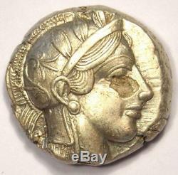 Athènes Grèce Athena Owl Tetradrachm Coin (454-404 Bc) Choix Xf Condition