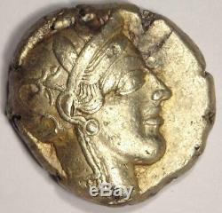 Athènes Grèce Athena Owl Tetradrachm Coin (454-404 Bc) Nice Vf Avec Test Mark