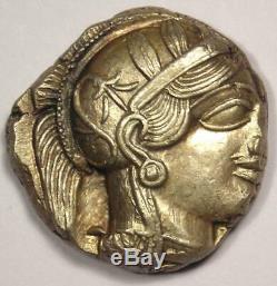 Athènes Grèce Athena Owl Tetradrachm Coin (454-404 Bc) Nice Xf Condition