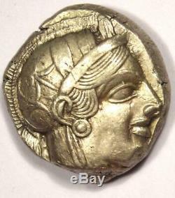 Athènes Grèce Athena Owl Tetradrachm Coin (454-404 Bc) Xf Avec Test Cut Mark