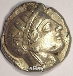Athènes Grèce Athena Owl Tetradrachm Coin (454-404 Bc) Xf Avec Test Mark