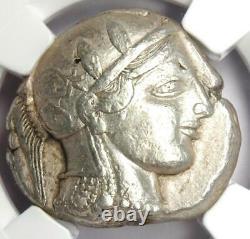 Athènes Grèce Athena Owl Tetradrachm Coin (455-440 Bc) Problème Ngc Xf Début