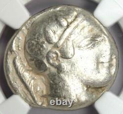 Athènes Grèce Athena Owl Tetradrachm Coin (465-455 Av. J.-c.) Ngc Vf Early Issue