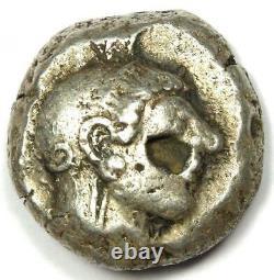 Athènes Grèce Athena Owl Tetradrachm Coin (510-480 Av. J.-c.) Amende / Vf Early Issue