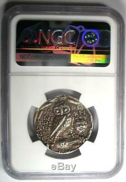 Athènes Grèce Athena Owl Tetradrachm Coin (98 Bc, New Style) Certifié Ngc Xf