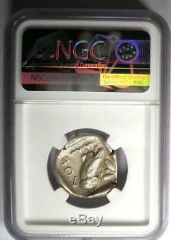 Athènes Grèce Athena Owl Tetradrachm Coin (early 455-440 Bc) Ngc Choix Vf