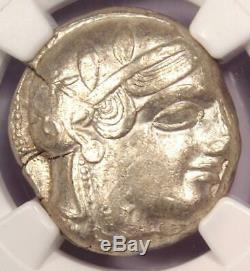 Athènes Grèce Athena Owl Tetradrachm Coin (early 455-440 Bc) Ngc Xf, Cut Test