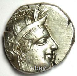 Athènes Grèce Athena Owl Tetradrachm Silver Coin (454-404 Av. J.-c.) Choix Vf / Xf