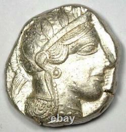 Athènes Grèce Athena Owl Tetradrachm Silver Coin (454-404 Av. J.-c.) Choix Xf / Au