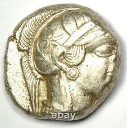 Athènes Grèce Athena Owl Tetradrachm Silver Coin (454-404 Av. J.-c.) Nice Xf (ef)