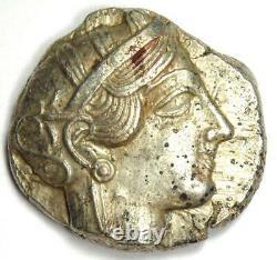 Athènes Grèce Athena Owl Tetradrachm Silver Coin (454-404 Av. J.-c.) Vf / Xf