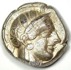 Athènes Grèce Athena Owl Tetradrachm Silver Coin (454-404 Av. J.-c.) Xf (ef) Condition