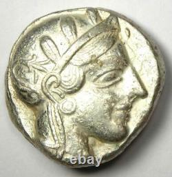 Athènes Grèce Athena Owl Tetradrachm Silver Coin (454-404 Bc) Xf Choice (ef)