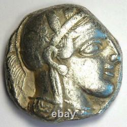 Athènes Grèce Athena Owl Tetradrachme Argent Coin (454-404 Av. J.-c.) Bon Vf