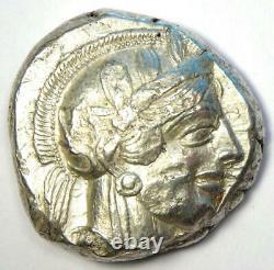 Athènes Grèce Athena Owl Tetradrachme Argent Coin (454-404 Av. J.-c.) Bon Vf / Xf