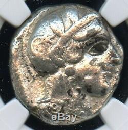 Athènes La Grèce Antique Athéna Chouette Tetradrachm Grecque Monnaie 440 Avant Jc, Fin Ngc Choix
