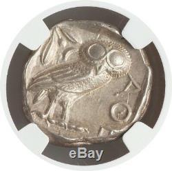 Athènes Proche Parfait Athena & Owl 440-404 Bc Tetradrachm Ngc Au 5 / 5-5 / 5 001