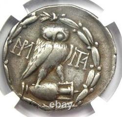 Athènes Sulla Athena Owl Tetradrachm Coin (86 Bc) Émission Ngc Vf Rare Sulla