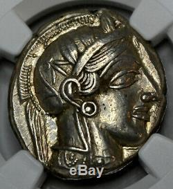 Athènes Tétradrachme D'argent Owl (440-404 Bc) Ngc Au Star 5/5 5/5 Plein Crest