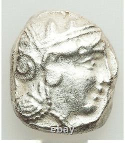 Athens Antique Athéna & Owl 393-294 Bc Ar Émission De Masse Tardive Tétradrachme Ua