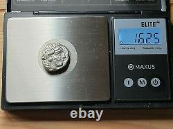 Athens Ar Owl Tétradrachme. Ch. Vf. 393-294 Av. J.-c. Numéro De La Pièce De Monnaie En Fin De Messe