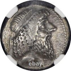 Attambelos I Ngc Xf 3/5 5/5 Characene Kingdom. 48/7-24 Avs Bi Tetradrachm 004