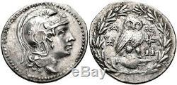 Attica. Athènes. 154/3 av. Ar Owl Tetradrachm (35 Mm, 16,52 G). Ngc Xf 5/3 Rare