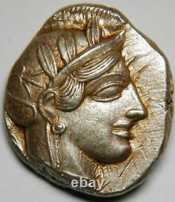 Attica Athens Ar Tetradrachm Circa 454-404 Bc Xf 17,23 Grammes