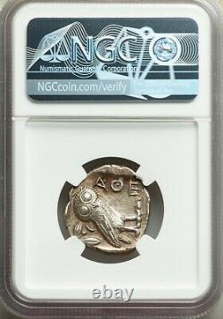 Attica Athens Athena Owl 440-404 Bc Ar (argent) Tétradrachme Ngc Ch-au 4/5 3/5