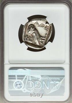 Attica Athens Athena Owl 440-404 Bc Ar (argent) Tétradrachme Ngc Ch-au 5/5 3/5