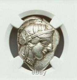 Attica Athens Greek Owl Silver Tetradrachm Coin (440-404 Av. J.-c.) Ngc Ch Au 5/5 4/5