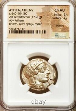 Attica Athens Ngc Choice Au 5/5 4/5 Ca. 440-404 Av. J.-c. Ar Tetradrachm 011