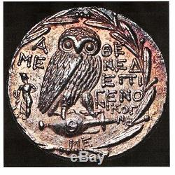 Attica, Nouveau Style Owl Ar D'athènes Tetradrachm Ngc Ch Au 4/5 4/5 30mm Scarce 081