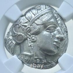 Attique, Athènes, Tétradrachme D'argent (17.19g), 440-404 Avant Notre Ère, Athéna, Hibou, Ngc Ch Au