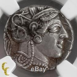 Attique, Athènes V. 440 404 Av. J.-c. Tétradrachme Xf Str 5/5 Sur 4/5 Athena / Owl