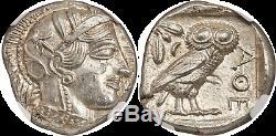 Attique Grecque. Athènes (environ 440-404 Bc.) Tétradrachme D'argent Ngc Mme 5/5 5/5