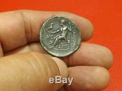 Av J-iii E C Tétradrachme Alexandre Le Grand, Antique Argent Monnaie. 19mm 16.8gr