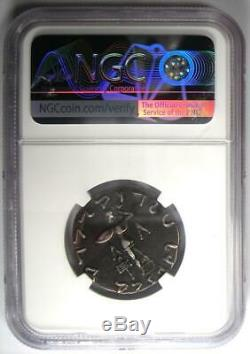 Bactriane Indo-grecs Apollodote II Ar Tetradrachm Silver Coin 80-65 Bc Ngc Vf